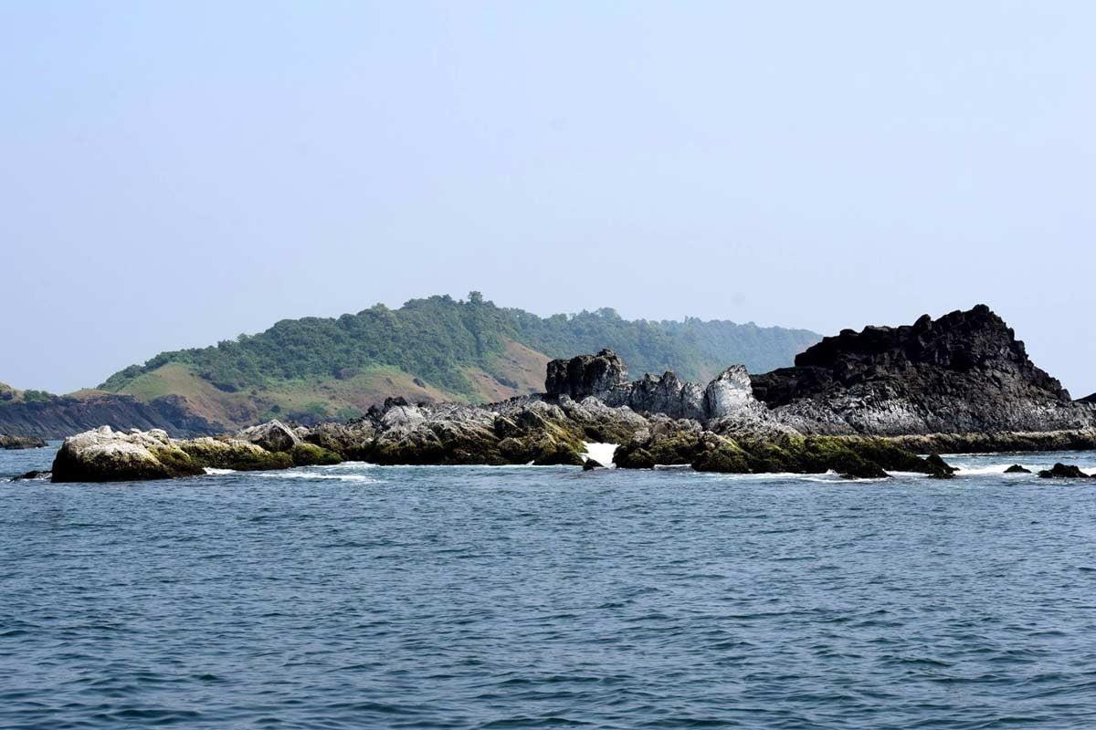 Beautiful Grand Island, Monkey beach, goa