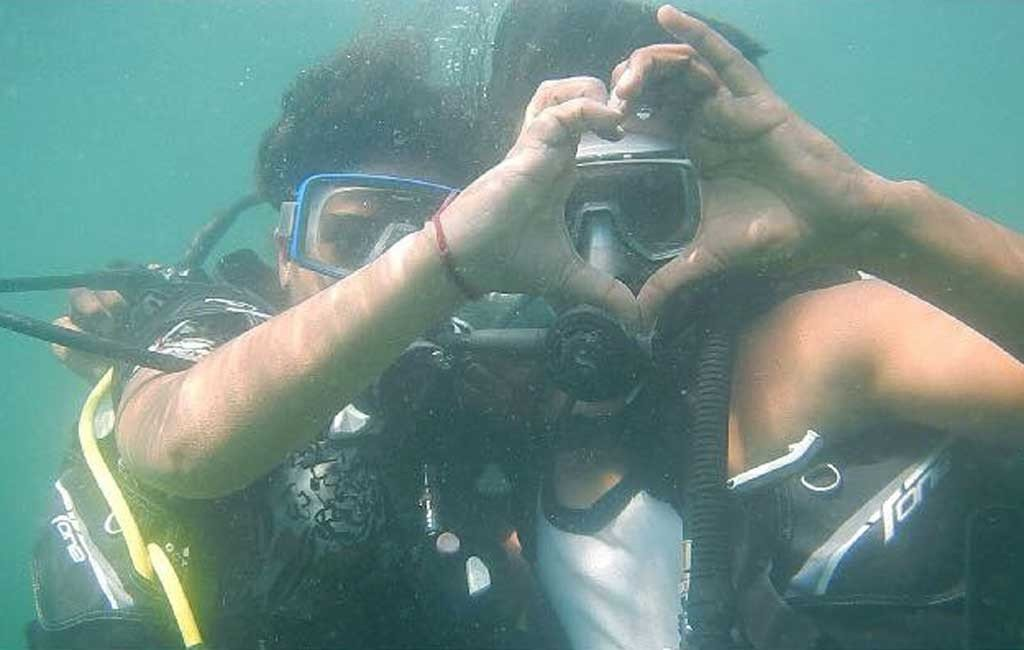 scuba dive at monkey island goa