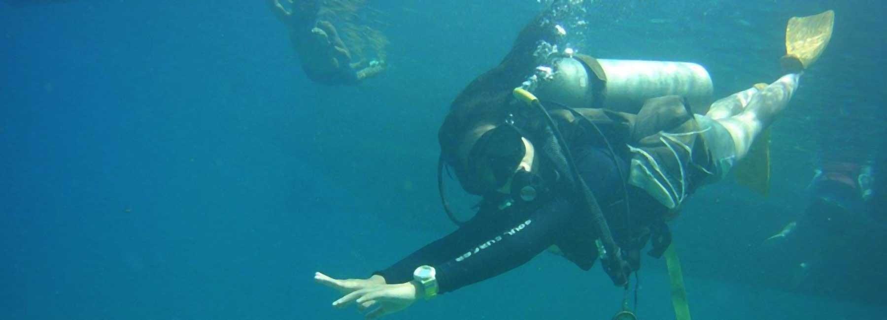 Scuba Diving - Monkey beach - goa