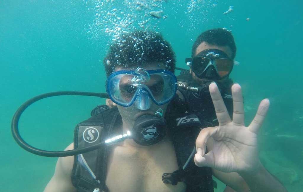 scuba diving at grand island goa